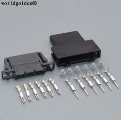 Мировой Золотой 6-контактный 1,5 мм Автомобильный вытяжной разъем для VW Polo Golf Audi Skoda Fabia электронный педаль акселератора соединитель 3B0972706 3B0 972...