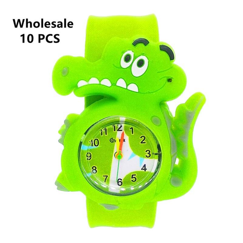 Fashion Children Watch Round Dial Kids Watches Girls Boys Slap Wrist Bracelet Baby Clock Quartz Wristwatch For Wholesale 10 Pcs
