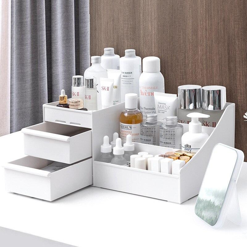 2020New caja de almacenamiento de cosméticos de gran capacidad cajón organizador de maquillaje joyería esmalte de uñas de maquillaje contenedor de artículos diversos para teléfono móvil