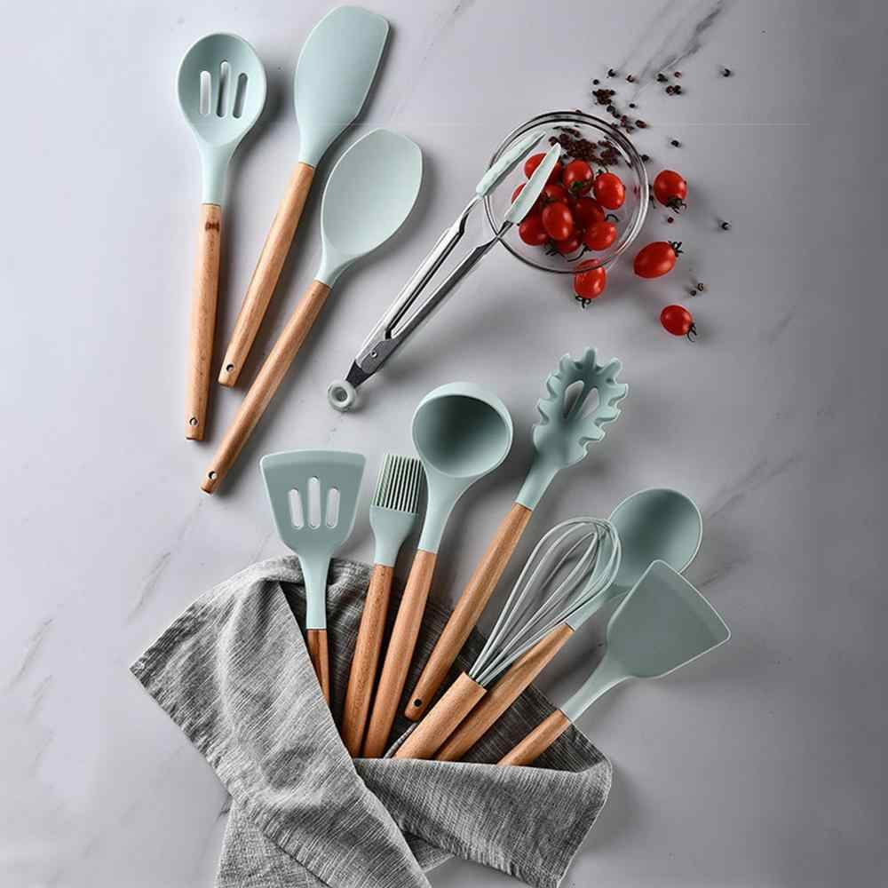 12 sztuk/zestaw naczynia kuchenne silikonowe naczynia do gotowania żaroodporne kuchnia non-stick akcesoria do gotowania pieczenie przechowywanie narzędzi Box
