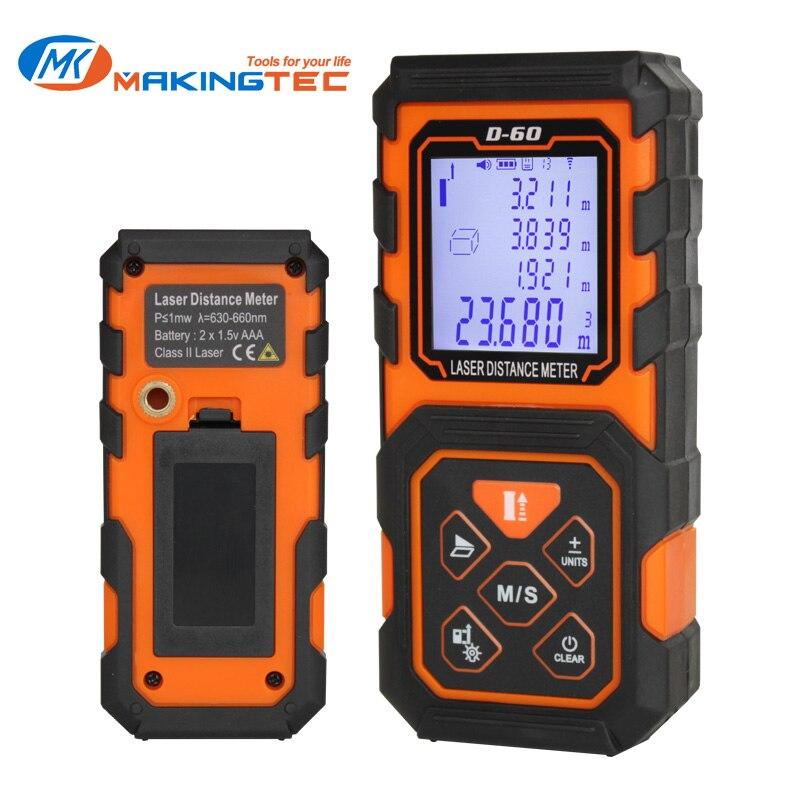 MAKINGTEC Laser Measure Rangrfinder Laser Distance Meter 100m 80m 60m 40m Digital Trena Laser Tape Range Finder Measuring Device