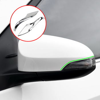 GLOSSY Chrome Car Side Door Rear View Mirror Cover Trim Garnish Molding Strip For Toyota Corolla 2014 2015 2016 2017 Altis E170 image