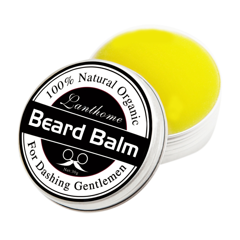 Lanthome Beard Oil And Balm Moustache Wax Beard Grooming Conditioner Beard Balm For Styling Moisturizing Smoothing Gentlemen