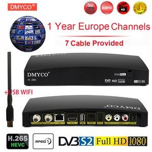Image 1 - オリジナル DMYCO D4S プラス DVB S2 デジタル衛星放送受信機ウェブ TV Biss キー 2x USB スロット USB 無線 Lan 3 グラムの Youporn NEWCAMD PK Openbox V8S