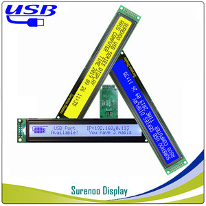 LCD2USB USB 402 40X2 4002 Character LCD Module Display Screen Panel sutible LCD Smartie & AIDA64 for DIY PC