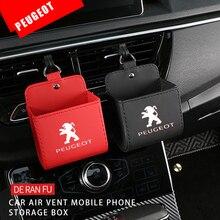Auto Air Outlet Storage Bag Case Voor Peugeot 307 208 206 308 207 2008 107 306 3008 408 4008 5008 508 205 406 407 301 Accessoires