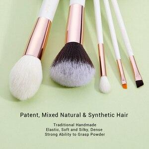 Image 2 - Jessup pérola branco/rosa de ouro pincéis de maquiagem profissional conjunto de ferramentas de escova kit fundação em pó natural cabelo sintético