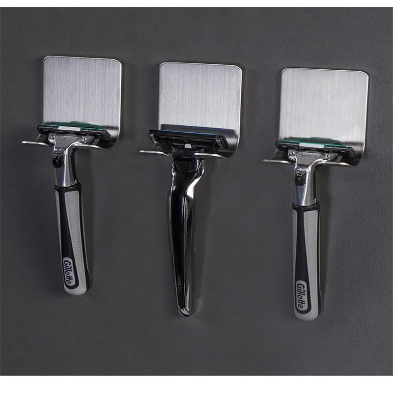 Image 3 - Pongee Beard Shave Knife Rack Boring Hook Bathroom Organizer Wall Mounted Type Hook Bathroom Organizer Accessories Wall BathroomHooks & Rails   -
