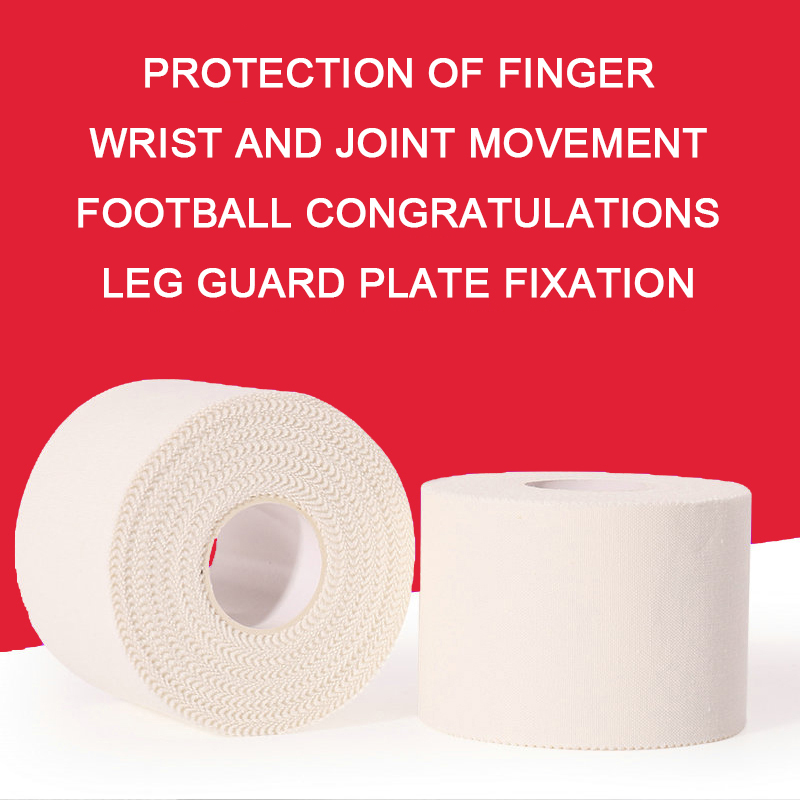 White Sports Tape Kinesiology Taping Sport Elastica Muscle Knie Bandage Strain Injury Support Jagged Sticker Fingers Protection