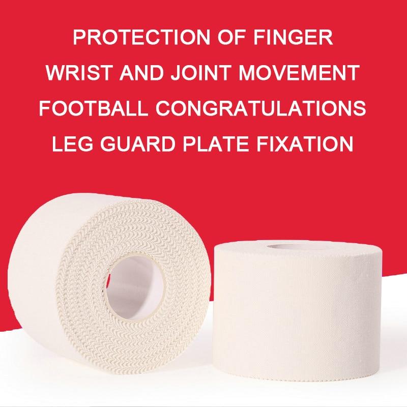 Белая Спортивная кинезиологическая клейкая лента, эластичная повязка для мышц, защита пальцев от травм