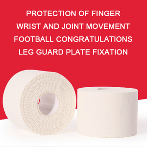 White Sports Tape Kinesiology Taping Sport Elastica Muscle Knie Bandage Strain Injury Support Jagged Sticker Fingers Protection(China)