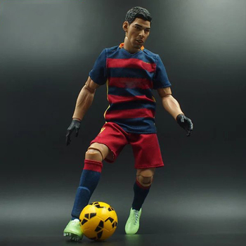 Collectible 1/6 Scale Football Star Barcelona Action Figure Doll Soccer Club 30cm High Model Souvenir For Fans Child Gifts collectible 1 12 scale full set thor ragnarok action figure doll figure weapon model for fans holiday gifts