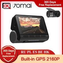 Новое поступление 70mai 4K A800S Встроенный GPS ADAS со сверхвысоким разрешением Ultra HD, UHD 2160P Разрешение задняя парковочная камера Monitior SONY IMX415 140FOV