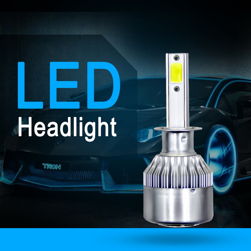 New 2PCs 9-36V LED Light C6 Headlight LED H1 H3 9004 9005 9006 36W 3800LM Automatic Headlamp 6500K Light Bulb