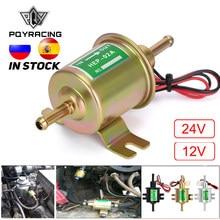 Nuevo 12V 24V bomba de combustible eléctrica de baja presión perno de fijación de alambre diésel gasolina HEP-02A para carburador de coche motocicleta ATV