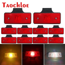 10Pcs 12V 24V LED Side Marker Lights Truck Trailer Tractor Clearance Lamps Turn Signals Indicator Running Light Red White Amber
