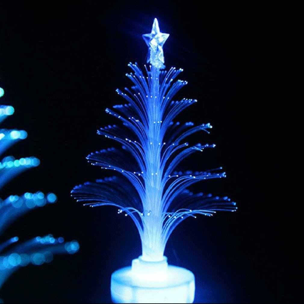Árbol de Navidad luz de Color cambiante lámpara de luz LED decoración de la habitación adorno pequeña Luz de noche para fiesta en casa