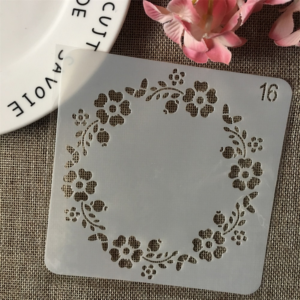 13cm Garland Plum DIY Layering Stencils Wall Painting Scrapbook Coloring Embossing Album Decorative Card Template