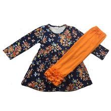 Dziewczynka spadek strój z długim rękawem z wzburzyć spodnie odzież zestaw 88