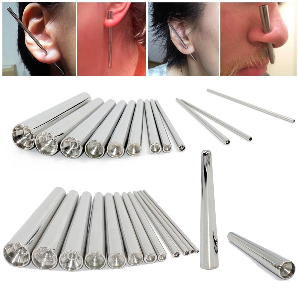 1 шт. 316L хирургическая сталь вогнутая коническая Расширительная Растяжка набор вогнутых ушных конусов набор профессиональных вставок шпил...