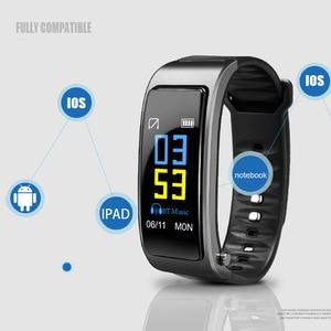 Image 4 - Çok fonksiyonlu 2 In 1 akıllı bilezik ile Bluetooth kulaklıklar kalp hızı monitörü su geçirmez izle açık spor uyku