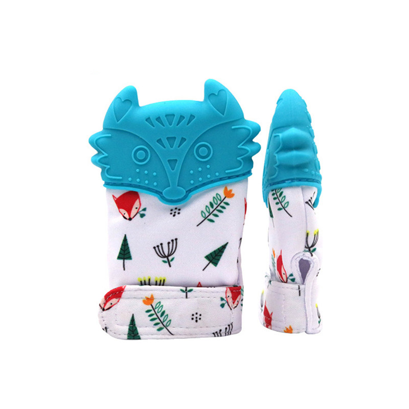 Animal Cartoon Teething Gloves Finger Baby Baby Teether Mittens Silicone Toy Baby Newborn Dental Care Sucking Sound Kids Toys