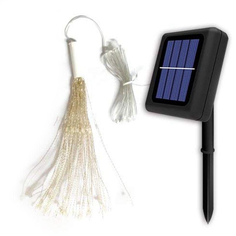 ABSS-Solar String Lights,120 LED Starburst Light 8 Lighting Modes Decoration Waterproof Fairy Lights,Copper Wire Twinkle Lights