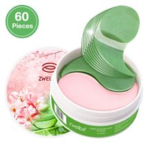 60 Pcs Collageen Eye Patch Hydraterende Kersenbloesems & Aloë Essentie Oogmasker Anti-Aging Anti-Wallen Anti rimpel Huidverzorging(China)