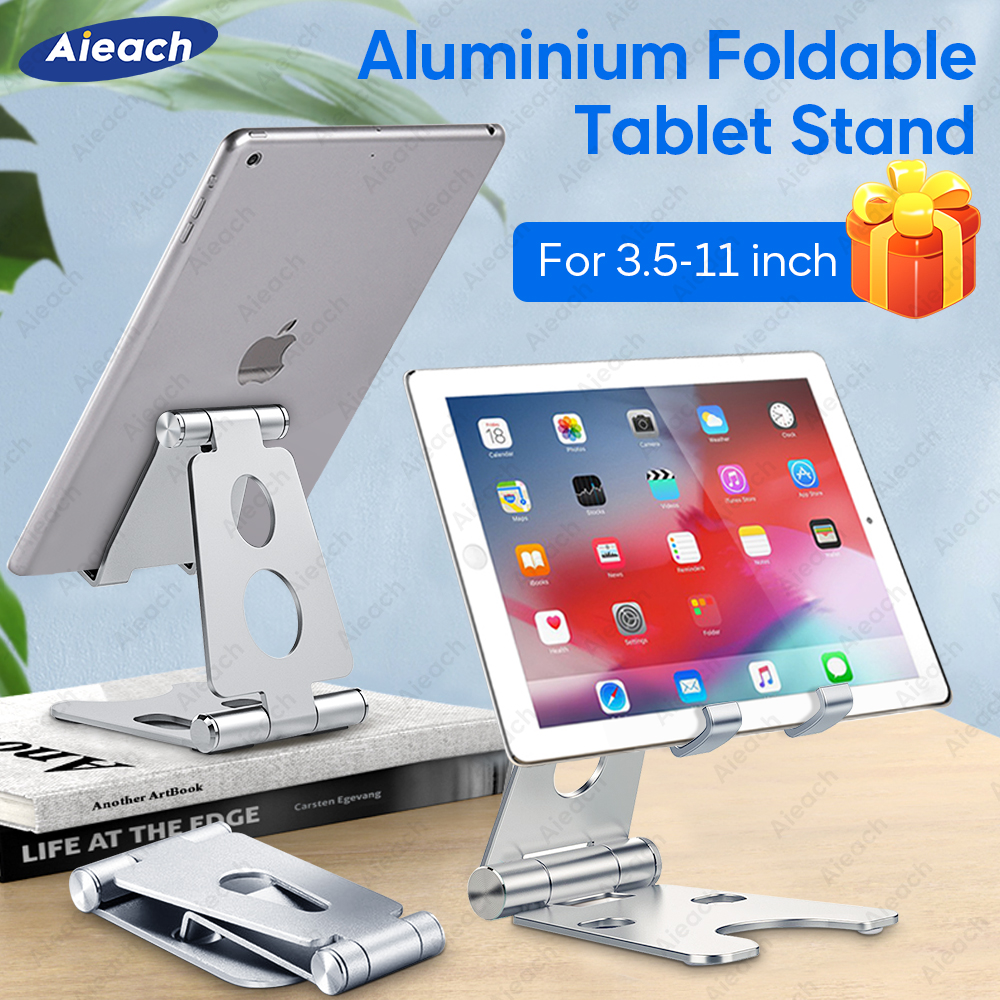 Aieach Adjustable Foldable Aluminium Tablet Stand For IPad Pro Air 3 10.2 Holder Xiaomi Samsung Soporte Tablet Holder 7.9