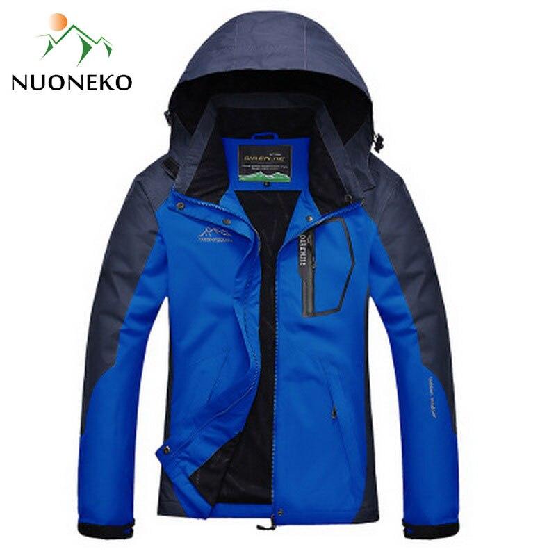 NUONEKO Men Women Waterproof Jacket Autumn Outdoor Camping Trip Trekking Coat Fishing Windbreaker Climbing Hiking Jackets JN04