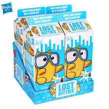 Hasbro genuíno perdido kitties pvc figura de ação caixa cega bonecas bonito gato surpresa brinquedos para crianças caixa surpresa presente