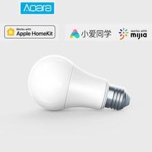 Aqara 9W E27 2700K 6500K 806lum akıllı beyaz renkli LED ampul ışığı ile çalışmak ev kiti ve MIjia app