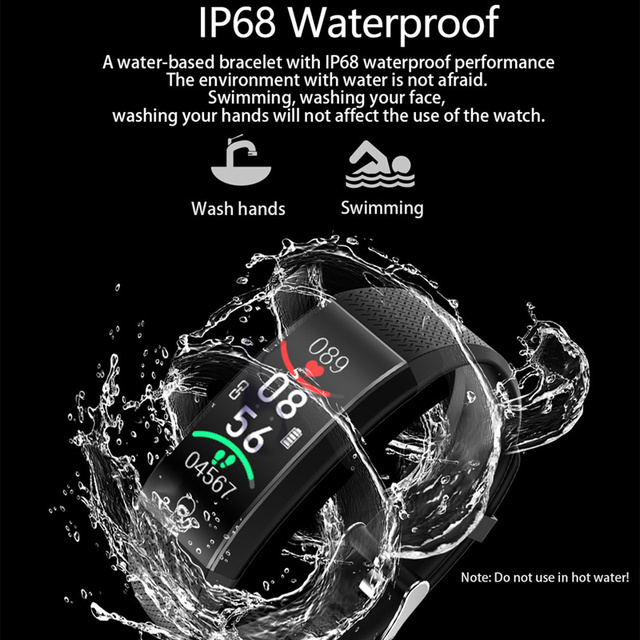 Smart Watch Body Temperature Smartwatch Ip68 Waterproof Heart Rate Fitness Tracker Smart Watches Men Women For Android IOS 2020 4