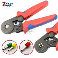 6-4 0.25-6mm 23-10AWG Four Tube Bootlace Terminal Crimping Pliers Crimp Hand Tools electrical tubular mini clamp adjustable