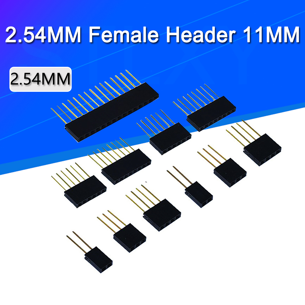 10pcs 1X2/3/4/6/8/10/15 Pin 2.54MM Stackable Long Legs Femal Header For Arduino Shield Stlxy
