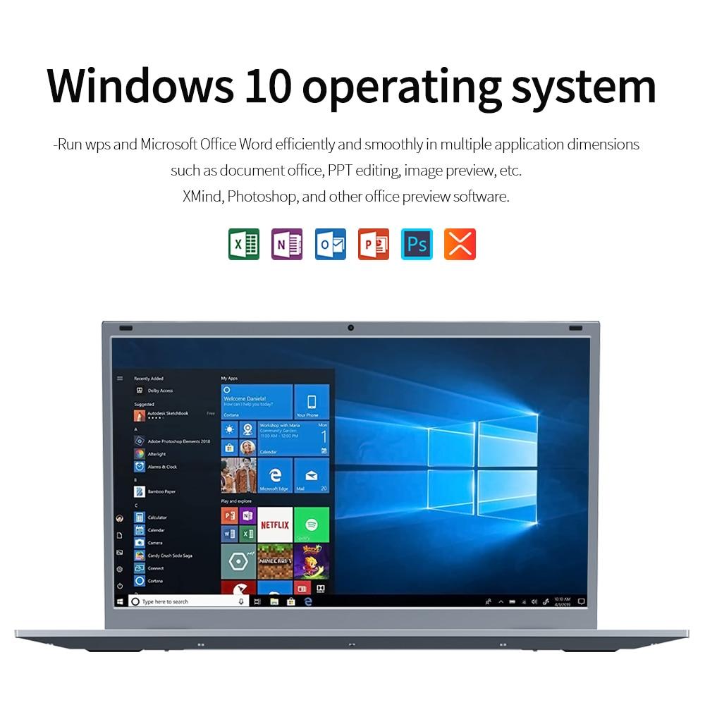Kuu xbook 14.1 Polegada 8gb ddr4 ram 128g 256g ssd windows 10 computador portátil intel j4115 quad core teclado estudante notebook 4