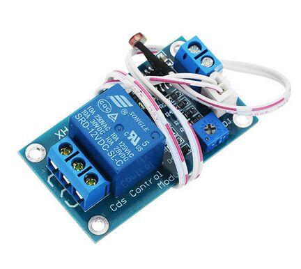 送料無料 XH-M131 フォトレジスターモジュール輝度自動制御モジュール 5V 12V 光制御リレーライトスイッチセンサー