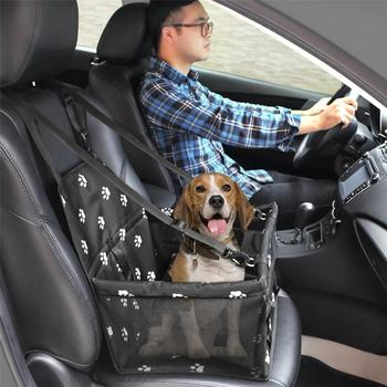 Pet Car Booster Seat Bag, Car Seat Cover Basket Mat Auto Protector for Dog, Cat, Puppy, Pet Travel Box Bag and Safe Folding. PVC Material Pet Accessories cb5feb1b7314637725a2e7: Black|Blue|Pink