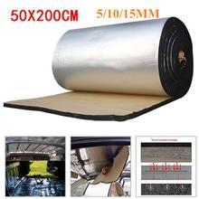 50 × 200センチメートル5/10/15ミリメートルカーdeadenerマットノイズボンネット絶縁消音フードエンジンステッカー