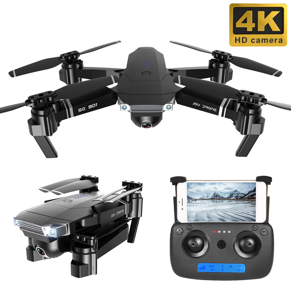 SG901 2 4G 4CH 6-Axis 4k Drone WiFi FPV RC Drone 1080P HD Dual Camera Rc dron Follow Me Quadrocopter Stable Gimbal Gift For Kid