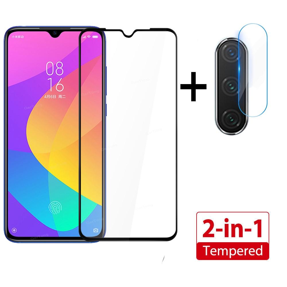 2 In 1 Tempered Glass For Xiaomi Mi 9 Lite 9 SE Mi9 SE Camera Screen Protector For Mi A3 Lite Full Cover Camera Lens Film Glass