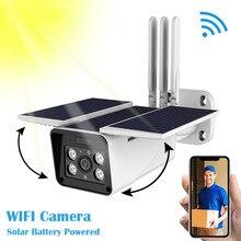 Наружная беспроводная камера безопасности на солнечной батарее, 1080P беспроводная камера видеонаблюдения, камера ночного видения P67 водонепроницаемая