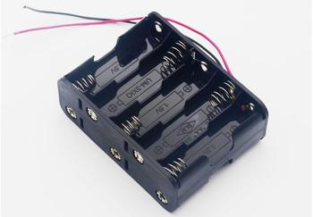 MasterFire 20pcs/lot 10 X 1.5V AA Back to Back Plastic Battery Holder 15V Batteries Storage Box Case Double With Wire Leads