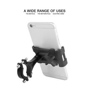 Image 4 - 1Pc אלומיניום סגסוגת אופני טלפון מחזיק 360 תואר Rotatable אופניים טלפון מחזיק מדפי רכיבה על אופניים כידון טלפון Stand סוגר