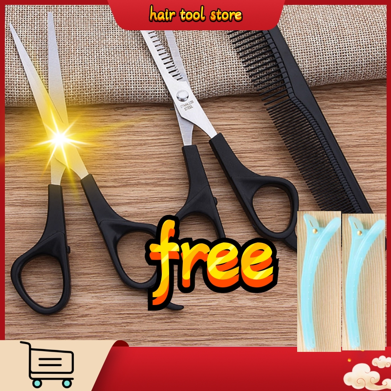 3pc Hair Scissors Cutting Shears Salon Professional Barber Hair Cutting Thinning Hairdressing Set Styling Tool Hairdressing Comb