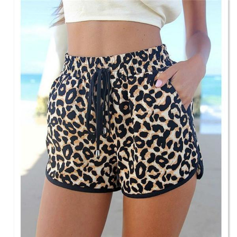 Hotpant Women Shorts Summer Beach Charming Casual Sexy Lady's Leopard Shorts Feminino Print Hotpant Pantalon