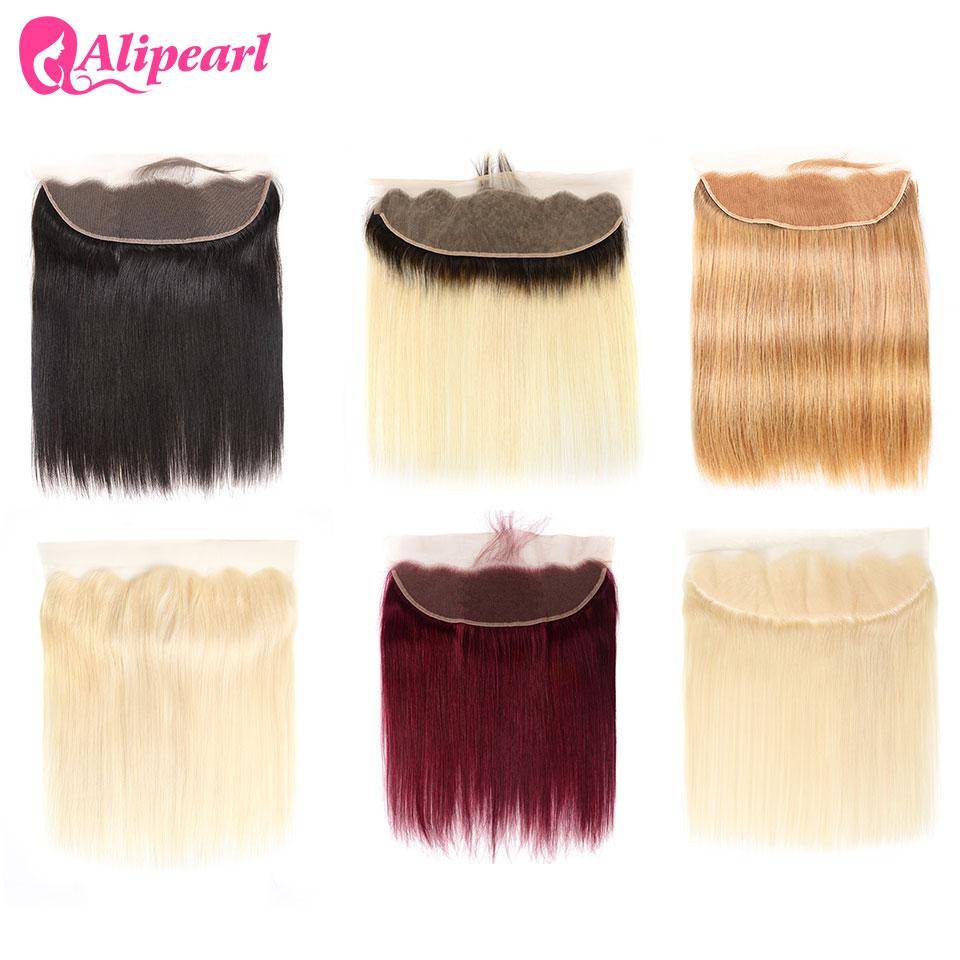 Ali Perle Haar 613 Blonde Spitze Frontal Ohr zu Ohr 13x4 Frontal #27 1B/4/ 27 brasilianische Frontal 7 Farben Erhältlich 8-20 zoll Remy