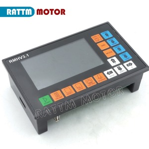 Image 2 - 4 Axis PLC offine Controller RMHV 3.1 500KHz 100 Pulse MPG Handwheel Emergency Stop for CNC Router Engraving Milling Machine