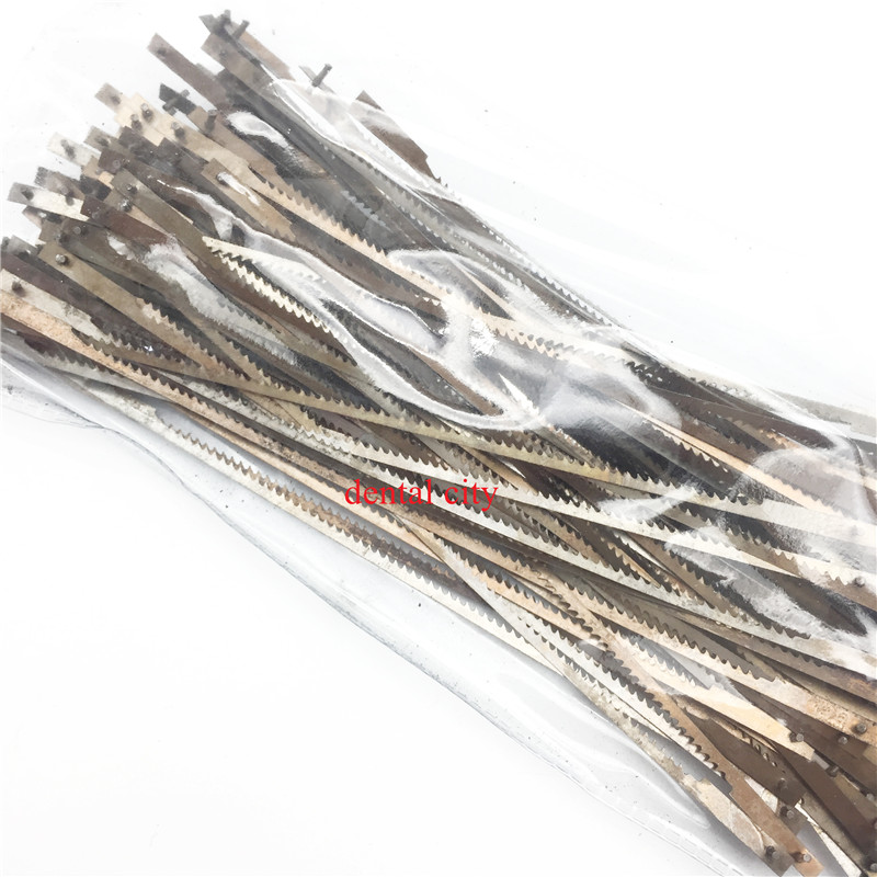 100 Pcs Long Plaster Saw Blades 128mm Dentist Tool Dental Lab Equipment