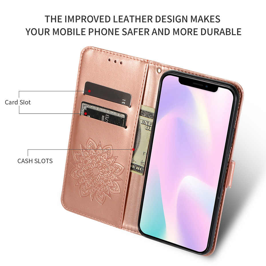 3d Floral Wallet Cover on for Xiaomi Redmi Note 8 Pro Rice note 8 Case Flip CASES For Xiomi Red MI Note 7 PRO Leather Book